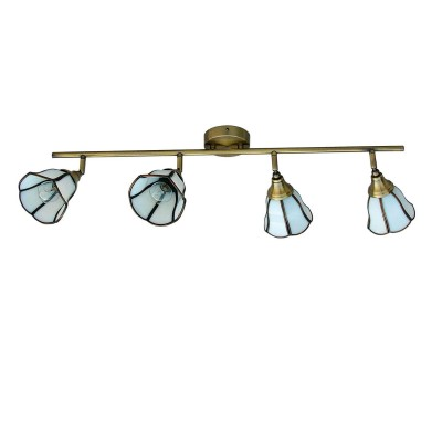 Светильник Favourite 5033-4CС 4 лампами<br>Светильники-споты – это оригинальные изделия с современным дизайном. Они позволяют не ограничивать свою фантазию при выборе освещения для интерьера. Такие модели обеспечивают достаточно качественный свет. Благодаря компактным размерам Вы можете использовать несколько спотов для одного помещения.  Интернет-магазин «Светодом» предлагает необычный светильник-спот Favourite 5033-4C по привлекательной цене. Эта модель станет отличным дополнением к люстре, выполненной в том же стиле. Перед оформлением заказа изучите характеристики изделия.  Купить светильник-спот Favourite 5033-4C в нашем онлайн-магазине Вы можете либо с помощью формы на сайте, либо по указанным выше телефонам. Обратите внимание, что у нас склады не только в Москве и Екатеринбурге, но и других городах России.<br><br>S освещ. до, м2: 8<br>Тип лампы: Накаливания / энергосбережения / светодиодная<br>Тип цоколя: E14<br>Цвет арматуры: бронзовый<br>Количество ламп: 4<br>Размеры: L777*W117*H234<br>MAX мощность ламп, Вт: 40