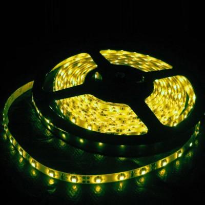 Светодиодная лента Smd 5050, 30 Led/м, 7.2W/м, 12V, IP33, свет желтыйИнтерьерная<br>Светодиодная лента led SMD 5050 используется как для  подсветки архитектурных, так и для интерьерных элементов. Арки, потолочные и декоративные ниши, подвесные потолки, барные стойки, светопрозрачные конструкции будут выгодно освещены, а пульт управления цветом позволит выбрать стиль освещения по вашему вкусу и настроению.  Гибкая светодиодная лента SMD 5050 выполнена на основе гибкой самоклеящейся печатной платы с прочным клеевым слоем «3М» и светодиодов с тремя кристаллами в одноим чипе. Имеется возможность деления на отрезки по 3 светодиода (10 см) без потери их работоспособности, каждый участок может использоваться отдельно. Работает на низковольтном напряжении 12V (постоянного тока DC), что обеспечивает безопасность и экономичность использования.     Широкий угол 120° (рассеянного) свечения.     Эффективный срок службы более 50 000 часов.    Размер:5000 х 10 х 2,5 ммРабочее напряжение: 12V DCПотребляемая мощность: 7,2 Вт/метрСветовой поток: 210 Лм/мКол-во светодиодов: 30 шт./метрУгол излучения света: 120°Рабочая температура: -40 до 80 °CКратность резки: 5 см (3 светодиода)    Цена указана за 1 метр, минимальный заказ - 1 катушка (5 метров).<br><br>Тип лампы: LED - светодиодная<br>MAX мощность ламп, Вт: 7,2<br>Оттенок (цвет): желтый