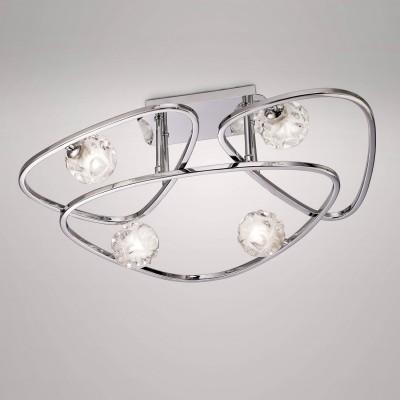Потолочный светильник Mantra 5051 LUXсовременные потолочные люстры модерн<br>Компания «Светодом» предлагает широкий ассортимент люстр от известных производителей. Представленные в нашем каталоге товары выполнены из современных материалов и обладают отличным качеством. Благодаря широкому ассортименту Вы сможете найти у нас люстру под любой интерьер. Мы предлагаем как классические варианты, так и современные модели, отличающиеся лаконичностью и простотой форм.  Стильная люстра Mantra 5051 станет украшением любого дома. Эта модель от известного производителя не оставит равнодушным ценителей красивых и оригинальных предметов интерьера. Люстра Mantra 5051 обеспечит равномерное распределение света по всей комнате. При выборе обратите внимание на характеристики, позволяющие приобрести наиболее подходящую модель. Купить понравившуюся люстру по доступной цене Вы можете в интернет-магазине «Светодом».<br><br>Установка на натяжной потолок: Ограничено<br>S освещ. до, м2: 8<br>Тип лампы: галогенная/LED<br>Тип цоколя: G9<br>Цвет арматуры: серебристый хром<br>Количество ламп: 4<br>Ширина, мм: 490<br>Длина, мм: 545<br>Высота, мм: 180<br>MAX мощность ламп, Вт: 40