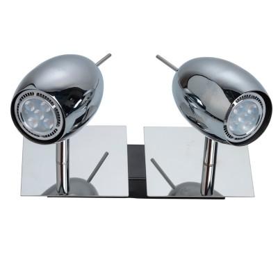 Светильник поворотный спот Mw light 506021202 АлголДвойные<br>Описание модели 506021202: Любителям современных, динамичных решений  в интерьере идеально подойдет светильник  из коллекции Алгол.  Простой, продуманный, без лишних деталей – завершенный  и строгий дизайн. Основание сделано  из металла цвета хрома, гладкое, с космическим  блеском: такой оттенок удачно впишется в любой интерьер.  В комплекте идут галогеновые лампы, рекомендуемая площадь освещения порядка 8 кв.м.<br><br>S освещ. до, м2: 4<br>Тип лампы: галогенная / LED-светодиодная<br>Тип цоколя: GU10<br>Цвет арматуры: серебристый<br>Количество ламп: 2<br>Ширина, мм: 220<br>Длина, мм: 150<br>Высота, мм: 170<br>MAX мощность ламп, Вт: 5<br>Общая мощность, Вт: 10