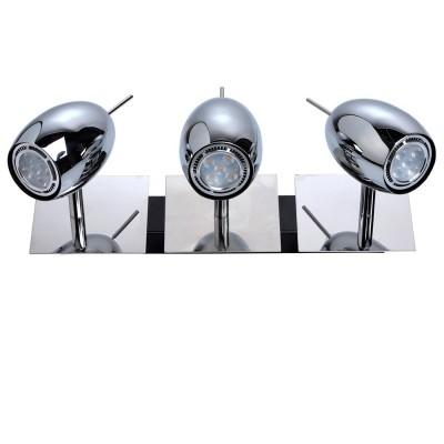 Светильник поворотный спот Mw light 506021303 АлголТройные<br>Описание модели 506021303: Любителям современных, динамичных решений  в интерьере идеально подойдет светильник  из коллекции Алгол.  Простой, Любителям современных, динамичных решений  в интерьере идеально подойдет светильник  из коллекции Алгол.  Простой, продуманный, без лишних деталей – завершенный  и строгий дизайн. Основание сделано  из металла цвета хрома, гладкое, с космическим  блеском: такой оттенок удачно впишется в любой интерьер.  В комплекте идут галогеновые лампы, рекомендуемая площадь освещения порядка 8 кв.м.<br><br>S освещ. до, м2: 6<br>Тип лампы: галогенная / LED-светодиодная<br>Тип цоколя: GU10<br>Количество ламп: 3<br>Ширина, мм: 360<br>MAX мощность ламп, Вт: 5<br>Длина, мм: 150<br>Высота, мм: 160<br>Цвет арматуры: серебристый<br>Общая мощность, Вт: 15