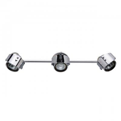 Светильник Mw-light 506021703Тройные<br><br><br>Тип лампы: галогенная/LED<br>Тип цоколя: GU10<br>Цвет арматуры: серебристый<br>Количество ламп: 3<br>Ширина, мм: 520<br>Длина, мм: 90<br>Высота, мм: 200