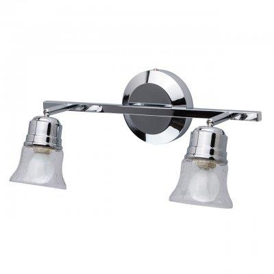 Светильник Mw-light 506022102Двойные<br><br><br>Тип лампы: Накаливания / энергосбережения / светодиодная<br>Тип цоколя: E14<br>Цвет арматуры: серебристый<br>Количество ламп: 2<br>Ширина, мм: 550<br>Длина, мм: 120<br>Высота, мм: 230<br>MAX мощность ламп, Вт: 40