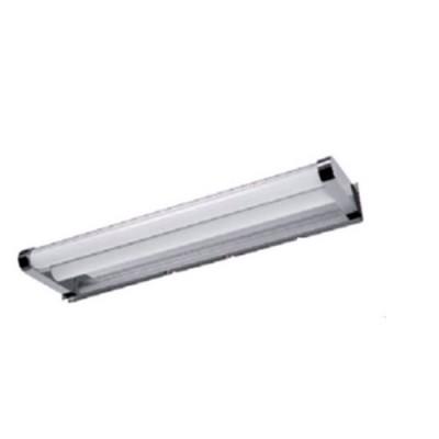 Светильник влагозащищенный Mw light 509023702 АкваХай-тек<br>Описание модели 509023702: Для тех, кто не любит лишних  деталей в интерьере и предпочитает обстановку в стиле минимализм, идеально подойдёт светильник из коллекции «Аква». Он будет удачно смотреться как в ванной, так и в кухонной либо жилой комнате.  Основание светильника сделано из нержавеющей стали, а плафоны – из белого матового акрила. Верхняя часть плафона покрыта пластиной из алюминия, благодаря которой свет направляется вниз и мягко рассеивается, создавая уютную и теплую атмосферу.   Рекомендуемая площадь освещения порядка 6 кв.м.<br><br>S освещ. до, м2: 6<br>Тип лампы: светодиодная<br>Тип цоколя: LED<br>Цвет арматуры: серебристый<br>Количество ламп: 2<br>Ширина, мм: 400<br>Длина, мм: 30<br>Высота, мм: 110<br>Поверхность арматуры: глянцевый<br>MAX мощность ламп, Вт: 7<br>Общая мощность, Вт: 14