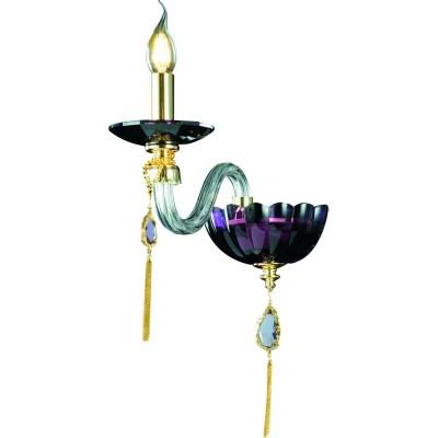 Светильник Divinare 5126/12 AP-1Классика<br><br><br>Тип цоколя: E14<br>Количество ламп: 1<br>Ширина, мм: 120<br>MAX мощность ламп, Вт: 40<br>Диаметр, мм мм: 270<br>Высота, мм: 450<br>Цвет арматуры: золотой/пурпурный
