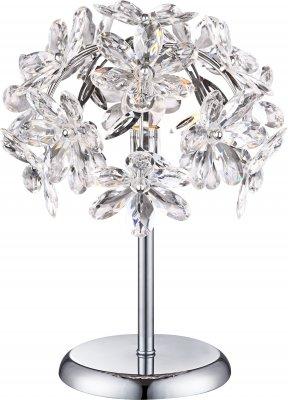 Светильник настольный Globo 5132-1T JulianaОжидается<br><br><br>S освещ. до, м2: 2<br>Тип лампы: накаливания / энергосбережения / LED-светодиодная<br>Тип цоколя: E14<br>Количество ламп: 1<br>MAX мощность ламп, Вт: 40<br>Диаметр, мм мм: 270<br>Высота, мм: 350<br>Цвет арматуры: хром