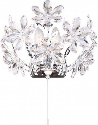 Светильник бра Globo 5132-2W JulianaФлористика<br><br><br>S освещ. до, м2: 6<br>Тип лампы: накаливания / энергосбережения / LED-светодиодная<br>Тип цоколя: E14<br>Количество ламп: 2<br>Ширина, мм: 300<br>MAX мощность ламп, Вт: 40<br>Высота, мм: 360<br>Цвет арматуры: серебристый