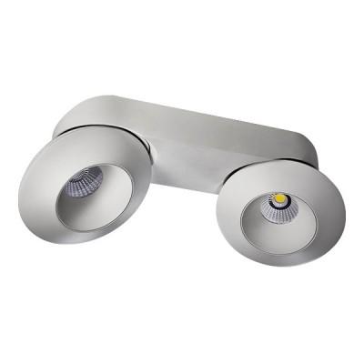 Светильник накладной светодиодный Lightstar 51326 Orbeдвойные светильники споты<br>Крепление: a15; Внешние габариты: D130 L310 W130 H80; Материал - основание/плафон: металл; Цвет-основание/плафон: белый; Лампа: LED 32W, Световой поток: 2480LM; Угол рассеивания: 60G; 3000К; <br>Встроенный трансформатор