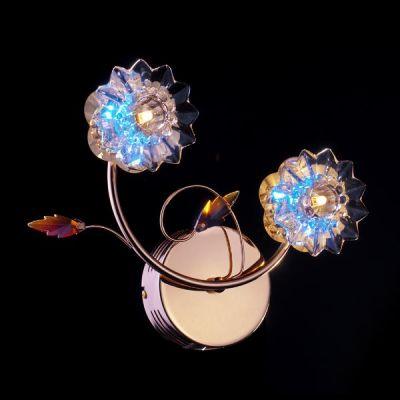 Светильник бра Евросвет 5136/2Флористика<br><br><br>Тип лампы: галогенная / LED-светодиодная<br>Тип цоколя: G4<br>Количество ламп: 2/2/6<br>Ширина, мм: 140<br>MAX мощность ламп, Вт: 20<br>Длина, мм: 340<br>Высота, мм: 270<br>Цвет арматуры: золотой