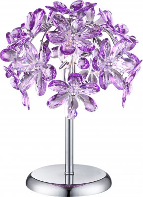 Светильник настольный Globo 5142-1T PurpleФлористика<br>Настольная лампа – это не просто источник дополнительного освещения, но и оригинальный элемент декора. Его можно установить в спальне, гостиной, кабинете и других комнатах. Интернет-магазин «Светодом» предлагает настольные лампы разных стилей по доступным ценам. Благодаря большому ассортименту Вы обязательно найдете в нашем каталоге именно ту модель, которую искали.   Настольная лампа Globo 5142-1T – прекрасный вариант для завершения интерьера. Ее можно включить одновременно с люстрой для более яркого освещения или без нее для создания уютной атмосферы, настраивающей на отдых.   Купить настольную лампу Globo 5142-1T Вы можете с помощью виртуальной «Корзины» или по контактным номерам, указанным на сайте.<br><br>S освещ. до, м2: 2<br>Тип лампы: накаливания / энергосбережения / LED-светодиодная<br>Тип цоколя: E14<br>Количество ламп: 1<br>MAX мощность ламп, Вт: 40<br>Диаметр, мм мм: 270<br>Высота, мм: 350<br>Цвет арматуры: серебристый хром