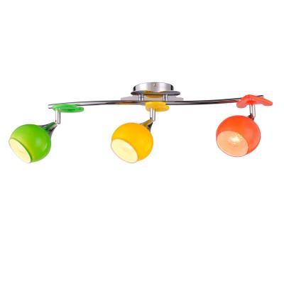 Светильник Colosseo 51603/3 NANNIТройные<br><br><br>Тип товара: споты<br>Тип лампы: накаливания / энергосбережения / LED-светодиодная<br>Тип цоколя: E14<br>Количество ламп: 3<br>Ширина, мм: 580<br>MAX мощность ламп, Вт: 60<br>Диаметр, мм мм: 580<br>Длина, мм: 160<br>Высота, мм: 200<br>Цвет арматуры: серебристый