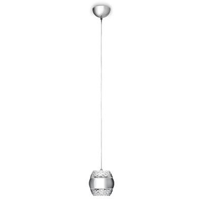 Подвесной светильник Mantra 5167 KHALIFAодиночные подвесные светильники<br><br><br>Цветовая t, К: 3000<br>Тип лампы: LED<br>Тип цоколя: LED<br>Цвет арматуры: серебристый хром<br>Количество ламп: 1<br>Диаметр, мм мм: 140<br>Высота, мм: 300 - 1500<br>MAX мощность ламп, Вт: 6