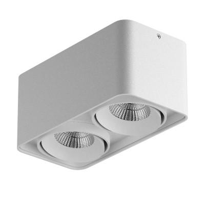 Lightstar MONOCCO 52126 СветильникКарданные<br><br><br>Тип лампы: LED<br>Тип цоколя: LED<br>Количество ламп: 2<br>Ширина, мм: 100<br>MAX мощность ламп, Вт: 10<br>Длина, мм: 195<br>Высота, мм: 90<br>Цвет арматуры: белый