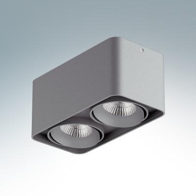 Lightstar MONOCCO 52129 СветильникКарданные<br><br><br>Тип лампы: LED<br>Тип цоколя: LED<br>Количество ламп: 2<br>Ширина, мм: 100<br>MAX мощность ламп, Вт: 10<br>Длина, мм: 195<br>Высота, мм: 90