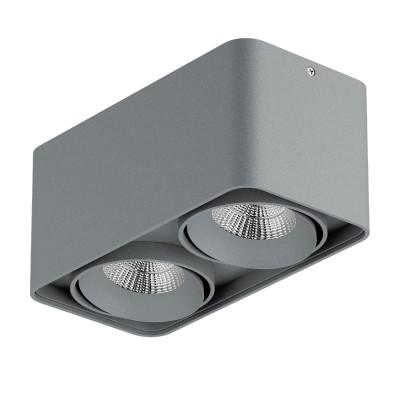 Lightstar MONOCCO 52129 СветильникКарданные<br><br><br>Тип лампы: LED<br>Тип цоколя: LED<br>Цвет арматуры: серый<br>Количество ламп: 2<br>Ширина, мм: 100<br>Длина, мм: 195<br>Высота, мм: 90<br>MAX мощность ламп, Вт: 10