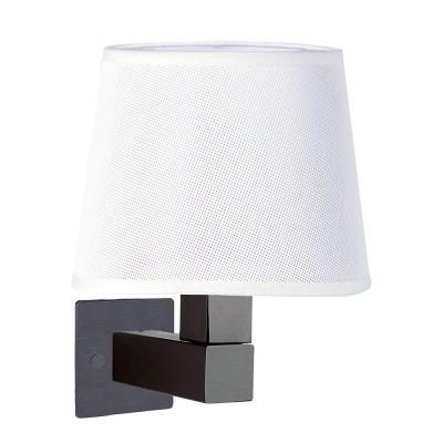 Настенный светильник бра Mantra 5235+5237+5171 BAHIAсовременные бра модерн<br><br><br>Тип лампы: Накаливания / энергосбережения / светодиодная<br>Тип цоколя: E27<br>Цвет арматуры: коричневый<br>Количество ламп: 1<br>Ширина, мм: 200<br>Высота, мм: 334<br>MAX мощность ламп, Вт: 40