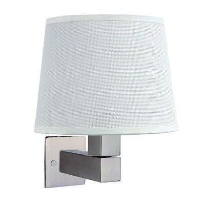 Настенный светильник бра Mantra 5236+5237+5170 BAHIAсовременные бра модерн<br><br><br>Тип лампы: Накаливания / энергосбережения / светодиодная<br>Тип цоколя: E27<br>Цвет арматуры: серебристый никель<br>Количество ламп: 1<br>Ширина, мм: 200<br>Расстояние от стены, мм: 215<br>Высота, мм: 227<br>MAX мощность ламп, Вт: 60