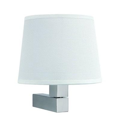 Настенный светильник бра Mantra 5236+5237 BAHIAСовременные<br><br><br>Тип лампы: Накаливания / энергосбережения / светодиодная<br>Тип цоколя: E27<br>Цвет арматуры: серебристый никель<br>Количество ламп: 1<br>Ширина, мм: 200<br>Расстояние от стены, мм: 215<br>Высота, мм: 227<br>MAX мощность ламп, Вт: 13