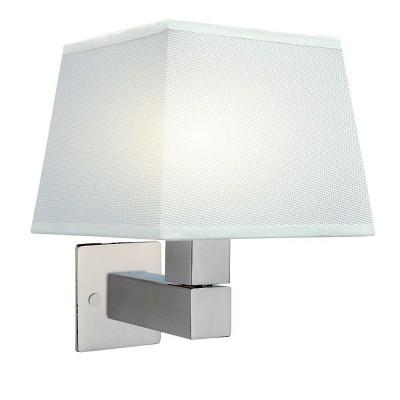 Настенный светильник бра Mantra 5236+5239+5170 BAHIAсовременные бра модерн<br><br><br>Тип лампы: Накаливания / энергосбережения / светодиодная<br>Тип цоколя: E27<br>Цвет арматуры: серебристый никель<br>Количество ламп: 1<br>Ширина, мм: 200<br>Расстояние от стены, мм: 215<br>Высота, мм: 227<br>MAX мощность ламп, Вт: 40