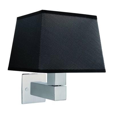 Настенный светильник бра Mantra 5236+5240+5170 BAHIAсовременные бра модерн<br><br><br>Тип лампы: Накаливания / энергосбережения / светодиодная<br>Тип цоколя: E27<br>Цвет арматуры: серебристый никель<br>Количество ламп: 1<br>Ширина, мм: 200<br>Расстояние от стены, мм: 215<br>Высота, мм: 227<br>MAX мощность ламп, Вт: 40
