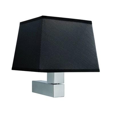 Настенный светильник бра Mantra 5236+5240 BAHIAсовременные бра модерн<br><br><br>Тип лампы: Накаливания / энергосбережения / светодиодная<br>Тип цоколя: E27<br>Цвет арматуры: серебристый никель<br>Количество ламп: 1<br>Ширина, мм: 215<br>Длина, мм: 200<br>Высота, мм: 227<br>MAX мощность ламп, Вт: 60