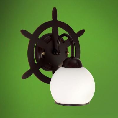 Светильник настенный бра Colosseo 52501/1W MESSINAМорской стиль<br><br><br>Тип лампы: Накаливания / энергосбережения / светодиодная<br>Тип цоколя: E27<br>Количество ламп: 1<br>Ширина, мм: 240<br>MAX мощность ламп, Вт: 60<br>Расстояние от стены, мм: 180<br>Высота, мм: 280<br>Цвет арматуры: коричневый