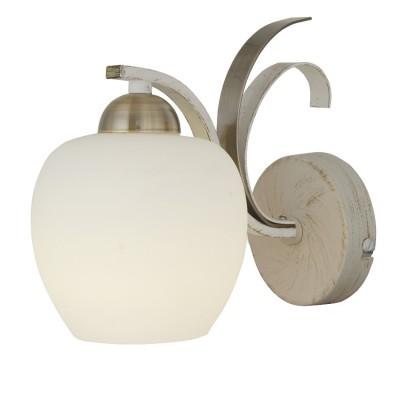 Светильник бра Lamplandia 5255-1 PortoСовременные<br>Бра. Традиционная модель с металлическим основанием цвета белая-старая бронза. Плафоны выполнены из белого матового стекла, замечательно впишется в любой интерьер.<br><br>S освещ. до, м2: 2<br>Крепление: настенный<br>Тип лампы: накаливания / энергосбережения / LED-светодиодная<br>Тип цоколя: E14<br>Количество ламп: 1<br>Ширина, мм: 240<br>MAX мощность ламп, Вт: 60<br>Длина, мм: 130<br>Высота, мм: 200<br>Цвет арматуры: белый