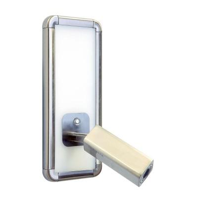 Настенный светильник бра Mantra 5256 IBIZAБра хай тек стиля<br><br><br>Цветовая t, К: 4000<br>Тип лампы: LED<br>Цвет арматуры: серебристый никель<br>Ширина, мм: 90<br>Расстояние от стены, мм: 167<br>Высота, мм: 220<br>MAX мощность ламп, Вт: 5