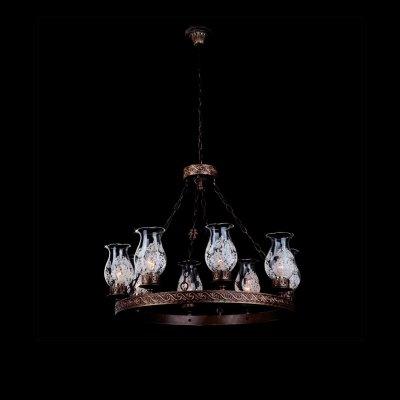 Люстра Bogateapos;s 531/8Подвесные<br><br><br>Установка на натяжной потолок: Да<br>S освещ. до, м2: 32<br>Крепление: Крюк<br>Тип товара: Люстра подвесная<br>Тип лампы: накаливания / энергосбережения / LED-светодиодная<br>Тип цоколя: E14<br>Количество ламп: 8<br>MAX мощность ламп, Вт: 60<br>Диаметр, мм мм: 670<br>Высота, мм: 700 - 1110<br>Цвет арматуры: черный