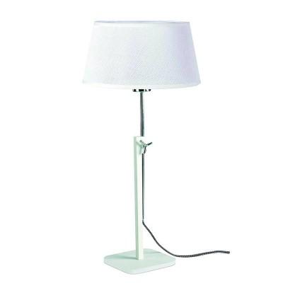 Настольная лампа Mantra 5320+5322 HABANAСовременные настольные лампы модерн<br>Настольная лампа – это не просто источник дополнительного освещения, но и оригинальный элемент декора. Его можно установить в спальне, гостиной, кабинете и других комнатах. Интернет-магазин «Светодом» предлагает настольные лампы разных стилей по доступным ценам. Благодаря большому ассортименту Вы обязательно найдете в нашем каталоге именно ту модель, которую искали.   Настольная лампа Mantra 5320+5322 – прекрасный вариант для завершения интерьера. Ее можно включить одновременно с люстрой для более яркого освещения или без нее для создания уютной атмосферы, настраивающей на отдых.   Купить настольную лампу Mantra 5320+5322 Вы можете с помощью виртуальной «Корзины» или по контактным номерам, указанным на сайте.<br><br>Тип лампы: Накаливания / энергосбережения / светодиодная<br>Тип цоколя: E27<br>Цвет арматуры: белый<br>Количество ламп: 1<br>Диаметр, мм мм: 240<br>Высота, мм: 411 - 574<br>MAX мощность ламп, Вт: 40