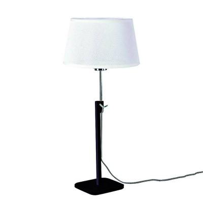 Настольная лампа Mantra 5321+5322 HABANAСовременные настольные лампы модерн<br>Настольная лампа – это не просто источник дополнительного освещения, но и оригинальный элемент декора. Его можно установить в спальне, гостиной, кабинете и других комнатах. Интернет-магазин «Светодом» предлагает настольные лампы разных стилей по доступным ценам. Благодаря большому ассортименту Вы обязательно найдете в нашем каталоге именно ту модель, которую искали.   Настольная лампа Mantra 5321+5322 – прекрасный вариант для завершения интерьера. Ее можно включить одновременно с люстрой для более яркого освещения или без нее для создания уютной атмосферы, настраивающей на отдых.   Купить настольную лампу Mantra 5321+5322 Вы можете с помощью виртуальной «Корзины» или по контактным номерам, указанным на сайте.<br><br>Тип лампы: Накаливания / энергосбережения / светодиодная<br>Тип цоколя: E27<br>Цвет арматуры: черный / серебристый хром<br>Количество ламп: 1<br>Диаметр, мм мм: 240<br>Высота, мм: 411 - 574<br>MAX мощность ламп, Вт: 40
