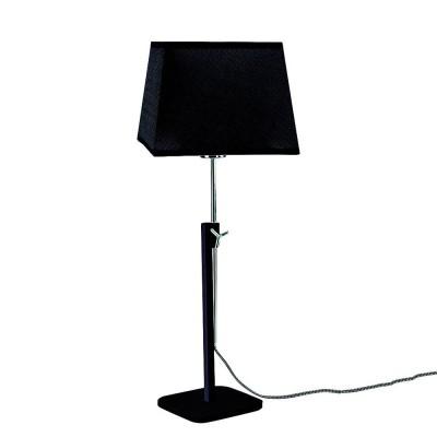 Настольная лампа Mantra 5321+5325 HABANAСовременные настольные лампы модерн<br>Настольная лампа – это не просто источник дополнительного освещения, но и оригинальный элемент декора. Его можно установить в спальне, гостиной, кабинете и других комнатах. Интернет-магазин «Светодом» предлагает настольные лампы разных стилей по доступным ценам. Благодаря большому ассортименту Вы обязательно найдете в нашем каталоге именно ту модель, которую искали.   Настольная лампа Mantra 5321+5325 – прекрасный вариант для завершения интерьера. Ее можно включить одновременно с люстрой для более яркого освещения или без нее для создания уютной атмосферы, настраивающей на отдых.   Купить настольную лампу Mantra 5321+5325 Вы можете с помощью виртуальной «Корзины» или по контактным номерам, указанным на сайте.<br><br>Тип лампы: LED<br>Тип цоколя: E27<br>Цвет арматуры: черный / серебристый хром<br>Количество ламп: 1<br>Ширина, мм: 240<br>Длина, мм: 240<br>Высота, мм: 411 - 574
