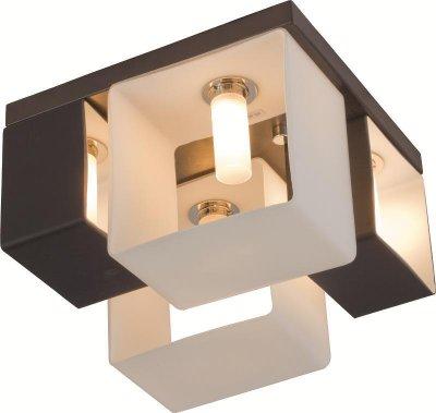 Люстра потолочная St luce SL536.542.04Потолочные<br>Касаемо коллекции модели St luce SL536.542.04 хотелось бы отметить основные моменты: Оригинальные светильники коллекции Concreto украсят современный интерьер в стиле хай-тек, минимализм, лофт, постмодерн. Это отличный вариант для освещения комнаты, кабинета или офисного помещения. Благодаря модным контрастным сочетаниям цветов, светильники станут яркой деталью интерьера. Основание выполнено из металла, плафоны стеклянные.<br><br>Установка на натяжной потолок: Ограничено<br>S освещ. до, м2: 10<br>Крепление: Планка<br>Тип лампы: галогенная / LED-светодиодная<br>Тип цоколя: G9<br>Количество ламп: 4<br>Ширина, мм: 235<br>MAX мощность ламп, Вт: 40<br>Длина, мм: 235<br>Высота, мм: 175<br>Поверхность арматуры: матовая<br>Оттенок (цвет): черный<br>Цвет арматуры: белый
