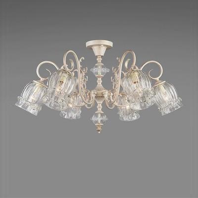 Люстра Bogateapos;s 536/6Потолочные<br><br><br>Установка на натяжной потолок: Да<br>S освещ. до, м2: 24<br>Крепление: Планка<br>Тип товара: Люстра<br>Тип лампы: накаливания / энергосбережения / LED-светодиодная<br>Тип цоколя: E14<br>Количество ламп: 6<br>MAX мощность ламп, Вт: 60<br>Диаметр, мм мм: 800<br>Высота, мм: 400<br>Цвет арматуры: белый с золотистой патиной