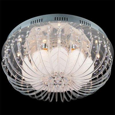 Люстра Евросвет 5408/12 хромПотолочные<br><br><br>Установка на натяжной потолок: Ограничено<br>Крепление: Планка<br>Тип товара: люстра<br>Тип лампы: галогенная / LED-светодиодная<br>Тип цоколя: G4+E14<br>Количество ламп: 6/6/174<br>MAX мощность ламп, Вт: 20<br>Диаметр, мм мм: 600<br>Высота, мм: 200<br>Цвет арматуры: серебристый