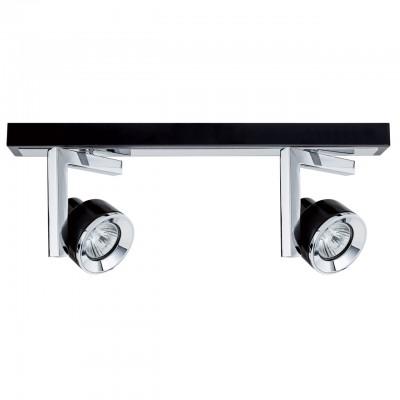 Светильник Mw-light 541020502двойные светильники споты<br><br><br>Тип лампы: галогенная/LED<br>Тип цоколя: GU10<br>Цвет арматуры: серебристый<br>Количество ламп: 2<br>Ширина, мм: 400<br>Длина, мм: 130<br>Высота, мм: 130<br>MAX мощность ламп, Вт: 50