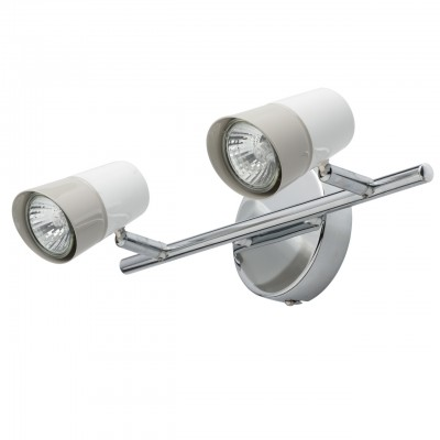Светильник Mw-light 542020502двойные светильники споты<br><br><br>Тип лампы: галогенная/LED<br>Тип цоколя: GU10<br>Цвет арматуры: серебристый<br>Количество ламп: 2<br>Ширина, мм: 330<br>Длина, мм: 100<br>Высота, мм: 150<br>MAX мощность ламп, Вт: 50