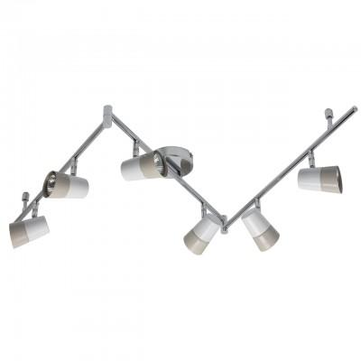 Светильник Mw-light 542020706Более 5 ламп<br><br><br>Тип лампы: галогенная/LED<br>Тип цоколя: GU10<br>Цвет арматуры: серебристый<br>Количество ламп: 6<br>Ширина, мм: 1620<br>Длина, мм: 550<br>Высота, мм: 150