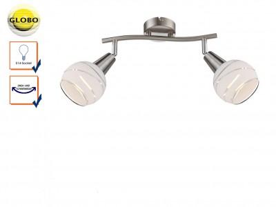 Светильник поворотный спот Globo 54341-2o ELLIOTTдвойные светильники споты<br>Подвесной светильник – это универсальный вариант, подходящий для любой комнаты. Сегодня производители предлагают огромный выбор таких моделей по самым разным ценам. В каталоге интернет-магазина «Светодом» мы собрали большое количество интересных и оригинальных светильников по выгодной стоимости. Вы можете приобрести их в Москве, Екатеринбурге и любом другом городе России. <br>Подвесной светильник Globo 54341-2O сразу же привлечет внимание Ваших гостей благодаря стильному исполнению. Благородный дизайн позволит использовать эту модель практически в любом интерьере. Она обеспечит достаточно света и при этом легко монтируется. Чтобы купить подвесной светильник Globo 54341-2O, воспользуйтесь формой на нашем сайте или позвоните менеджерам интернет-магазина.