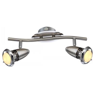 Светильник Globo 54342-2 DexterДвойные<br>Светильники-споты – это оригинальные изделия с современным дизайном. Они позволяют не ограничивать свою фантазию при выборе освещения для интерьера. Такие модели обеспечивают достаточно качественный свет. Благодаря компактным размерам Вы можете использовать несколько спотов для одного помещения.  Интернет-магазин «Светодом» предлагает необычный светильник-спот Globo 54342-2 по привлекательной цене. Эта модель станет отличным дополнением к люстре, выполненной в том же стиле. Перед оформлением заказа изучите характеристики изделия.  Купить светильник-спот Globo 54342-2 в нашем онлайн-магазине Вы можете либо с помощью формы на сайте, либо по указанным выше телефонам. Обратите внимание, что у нас склады не только в Москве и Екатеринбурге, но и других городах России.<br><br>Тип лампы: галогенная / LED-светодиодная<br>Тип цоколя: E14 R50LED<br>Количество ламп: 2<br>Ширина, мм: 90<br>MAX мощность ламп, Вт: 4<br>Длина, мм: 340<br>Высота, мм: 90<br>Цвет арматуры: серебристый