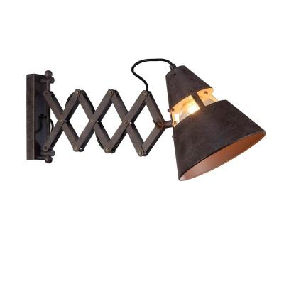Настенный светильник бра Mantra 5444 INDUSTRIALбра в стиле лофт<br><br><br>Тип лампы: Энергосберегающие (не входят в комплект)<br>Тип цоколя: E27<br>Цвет арматуры: черный<br>Количество ламп: 1<br>Ширина, мм: 215<br>Длина, мм: 320-700<br>Высота, мм: 252<br>MAX мощность ламп, Вт: 40