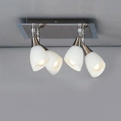 Светильник Globo 5450-4 FrankС 4 лампами<br>Светильники-споты – это оригинальные изделия с современным дизайном. Они позволяют не ограничивать свою фантазию при выборе освещения для интерьера. Такие модели обеспечивают достаточно качественный свет. Благодаря компактным размерам Вы можете использовать несколько спотов для одного помещения. <br>Интернет-магазин «Светодом» предлагает необычный светильник-спот Globo 5450-4 по привлекательной цене. Эта модель станет отличным дополнением к люстре, выполненной в том же стиле. Перед оформлением заказа изучите характеристики изделия. <br>Купить светильник-спот Globo 5450-4 в нашем онлайн-магазине Вы можете либо с помощью формы на сайте, либо по указанным выше телефонам. Обратите внимание, что мы предлагаем доставку не только по Москве и Екатеринбургу, но и всем остальным российским городам.<br><br>S освещ. до, м2: 13<br>Тип товара: Светильник поворотный спот<br>Тип лампы: накал-я - энергосбер-я<br>Тип цоколя: E14<br>Количество ламп: 4<br>Ширина, мм: 300<br>MAX мощность ламп, Вт: 40<br>Длина, мм: 300<br>Высота, мм: 190<br>Цвет арматуры: серый