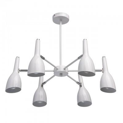 Светильник Mw-light 545012506Потолочные<br><br><br>S освещ. до, м2: 12<br>Тип лампы: накаливания / энергосбережения / LED-светодиодная<br>Тип цоколя: E14<br>Цвет арматуры: белый<br>Количество ламп: 6<br>Диаметр, мм мм: 730<br>Высота, мм: 400