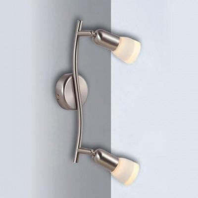 Светильник Globo 5453-2 CathyДвойные<br><br><br>S освещ. до, м2: 5<br>Тип товара: Светильник поворотный спот<br>Скидка, %: 49<br>Тип лампы: накал-я - энергосбер-я<br>Тип цоколя: E14<br>Количество ламп: 2<br>Ширина, мм: 110<br>MAX мощность ламп, Вт: 40<br>Длина, мм: 360<br>Высота, мм: 120<br>Цвет арматуры: серый