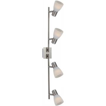 Светильник Globo 54534-4 Parry Iспоты 4 лампы<br>Светильники-споты – это оригинальные изделия с современным дизайном. Они позволяют не ограничивать свою фантазию при выборе освещения для интерьера. Такие модели обеспечивают достаточно качественный свет. Благодаря компактным размерам Вы можете использовать несколько спотов для одного помещения.  Интернет-магазин «Светодом» предлагает необычный светильник-спот Globo 54534-4 по привлекательной цене. Эта модель станет отличным дополнением к люстре, выполненной в том же стиле. Перед оформлением заказа изучите характеристики изделия.  Купить светильник-спот Globo 54534-4 в нашем онлайн-магазине Вы можете либо с помощью формы на сайте, либо по указанным выше телефонам. Обратите внимание, что у нас склады не только в Москве и Екатеринбурге, но и других городах России.<br><br>S освещ. до, м2: 10<br>Тип лампы: накал-я - энергосбер-я<br>Тип цоколя: E14 LED<br>Цвет арматуры: серебристый<br>Количество ламп: 4<br>Ширина, мм: 100<br>Длина, мм: 800<br>Высота, мм: 140<br>MAX мощность ламп, Вт: 4