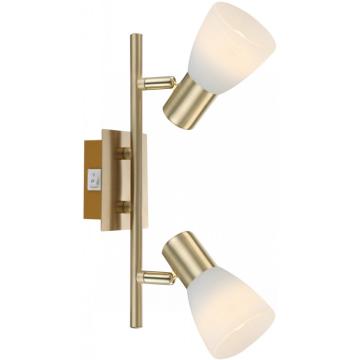 Светильник Globo 54538-2 Raider IДвойные<br>Светильники-споты – это оригинальные изделия с современным дизайном. Они позволяют не ограничивать свою фантазию при выборе освещения для интерьера. Такие модели обеспечивают достаточно качественный свет. Благодаря компактным размерам Вы можете использовать несколько спотов для одного помещения.  Интернет-магазин «Светодом» предлагает необычный светильник-спот Globo 54538-2 по привлекательной цене. Эта модель станет отличным дополнением к люстре, выполненной в том же стиле. Перед оформлением заказа изучите характеристики изделия.  Купить светильник-спот Globo 54538-2 в нашем онлайн-магазине Вы можете либо с помощью формы на сайте, либо по указанным выше телефонам. Обратите внимание, что у нас склады не только в Москве и Екатеринбурге, но и других городах России.<br><br>S освещ. до, м2: 4<br>Тип лампы: накал-я - энергосбер-я<br>Тип цоколя: E14 LED<br>Цвет арматуры: Золотой<br>Количество ламп: 2<br>Ширина, мм: 100<br>Длина, мм: 300<br>Высота, мм: 100<br>MAX мощность ламп, Вт: 4