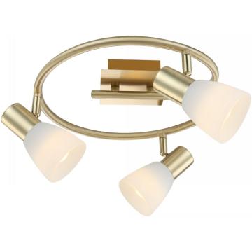 Светильник Globo 54538-3 Raider IТройные<br>Светильники-споты – это оригинальные изделия с современным дизайном. Они позволяют не ограничивать свою фантазию при выборе освещения для интерьера. Такие модели обеспечивают достаточно качественный свет. Благодаря компактным размерам Вы можете использовать несколько спотов для одного помещения.  Интернет-магазин «Светодом» предлагает необычный светильник-спот Globo 54538-3 по привлекательной цене. Эта модель станет отличным дополнением к люстре, выполненной в том же стиле. Перед оформлением заказа изучите характеристики изделия.  Купить светильник-спот Globo 54538-3 в нашем онлайн-магазине Вы можете либо с помощью формы на сайте, либо по указанным выше телефонам. Обратите внимание, что у нас склады не только в Москве и Екатеринбурге, но и других городах России.<br><br>S освещ. до, м2: 5<br>Тип лампы: накал-я - энергосбер-я<br>Тип цоколя: E14 LED<br>Цвет арматуры: Золотой<br>Количество ламп: 3<br>Ширина, мм: 460<br>Длина, мм: 460<br>Высота, мм: 140<br>MAX мощность ламп, Вт: 4