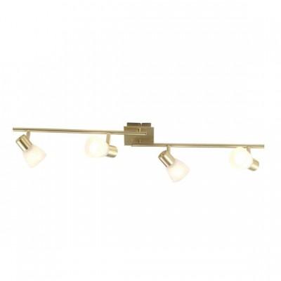Светильник Globo 54540-4 RaiderС 4 лампами<br>Светильники-споты – это оригинальные изделия с современным дизайном. Они позволяют не ограничивать свою фантазию при выборе освещения для интерьера. Такие модели обеспечивают достаточно качественный свет. Благодаря компактным размерам Вы можете использовать несколько спотов для одного помещения.  Интернет-магазин «Светодом» предлагает необычный светильник-спот Globo 54540-4 по привлекательной цене. Эта модель станет отличным дополнением к люстре, выполненной в том же стиле. Перед оформлением заказа изучите характеристики изделия.  Купить светильник-спот Globo 54540-4 в нашем онлайн-магазине Вы можете либо с помощью формы на сайте, либо по указанным выше телефонам. Обратите внимание, что мы предлагаем доставку не только по Москве и Екатеринбургу, но и всем остальным российским городам.<br><br>S освещ. до, м2: 10<br>Тип лампы: накал-я - энергосбер-я<br>Тип цоколя: E14<br>Количество ламп: 4<br>Ширина, мм: 155<br>MAX мощность ламп, Вт: 40<br>Длина, мм: 900<br>Высота, мм: 150<br>Цвет арматуры: латунь