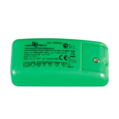 Novotech 546001 ТрансформаторТрансформаторы 220/12<br><br><br>Ширина, мм: 39.5<br>MAX мощность ламп, Вт: 10-60W<br>Длина, мм: 88<br>Высота, мм: 28
