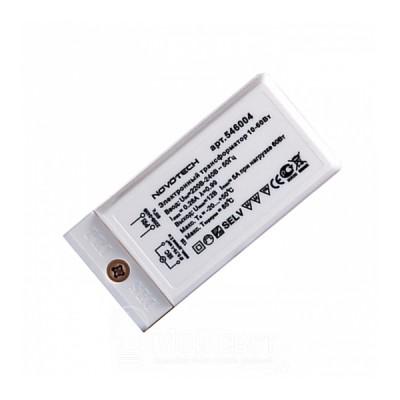 Novotech 546004 ТрансформаторТрансформаторы 220/12<br><br><br>MAX мощность ламп, Вт: 10-60W